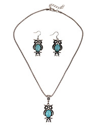 Jewelry 1 Necklace / 1 Pair of Earrings Wedding / Party / Daily / Casual 1set Women Dark Navy Wedding Gifts