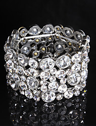 Tennis Bracelets 1pc,Transparent / Silver Bracelet Fashionable / Rhinestone Jewellery