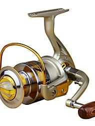 Moulinet pour pêche Moulinet spinnerbaits 5.5:1 10 Roulements à billes GaucherPêche en mer Pêche à la mouche Pêche d'appât Pêche sur