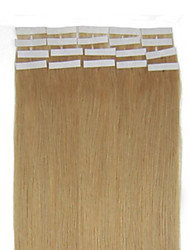16-24inch 27 Dark Brown 20pcs Tape in Premium Remy Human Hair Extensions Straight Women Beauty Salon Style Design