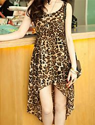 Women's Sexy Inelastic Sleeveless Asymmetrical Dress (Chiffon)