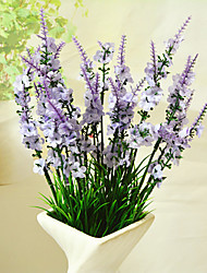 High Quality Artificial Flowers for Home Decoration Bright Color Lavender Silk Flower for Wedding Decorations