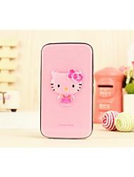 bateria externa 5000mAh vaquinha cristal-de-rosa banco de potência multi-saída para iphone6 / samsung Nota4 e outros dispositivos móveis
