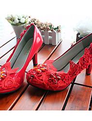 Mujer Zapatos de boda Tacones Tacones Boda/Fiesta y Noche Rojo