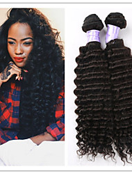 "3Pcs/Lot 8""-34"" Brazilian Deep Wave Virin Hair #1B 300G Deep Wave Hair Brazilian Hair Weft Weaves Hair Extensions"
