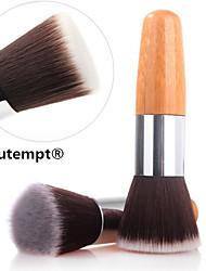1pcs exquis bambou naturel fondation poignée pinceau pour poudre / maquillage amorce de base / fondation