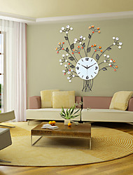 Floral Design Iron Wall Clock