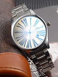 Couple's Dress Watch Japanese Quartz Calendar Water Resistant Stainless Steel Analog Wrist Watch