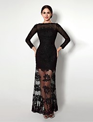 Formal Evening Dress Sheath / Column Bateau Sweetheart Ankle-length Lace with