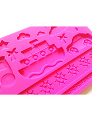 Transpotation Fondant Mold Cake Decoration Mold