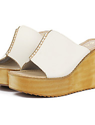 Women's Shoes  Wedge Heel Wedges Slippers Casual White/Bone