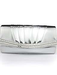 Faux Leather - Evening Handbags/Clutches/Mini-Bags ( Zwart/Zilver/Goud/Blauw , Chain/Crystal/ Rhinestone