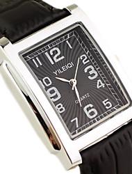 Masculino Relógio de Pulso Quartzo Quartzo Japonês Couro Banda Preta Marrom