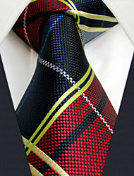 "U21 Shlax&Wing Red Blue Fashion Necktie Ties Checkered Dress 63"" Extra Long Size"