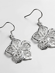 2015 Hot Selling Products Italy S925 Silver Plated Drop Earrings for Lady Fine Statement Jewelry for Women
