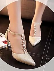 Pumps/Heels ( Caucho , Dorado/Plateado Tacón de estilete para Zapatos de mujer