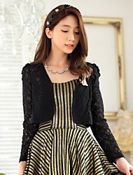 Wedding / Party/Evening Polyester Lace Bow Shrugs Long Sleeve Women's Elegant Wrap