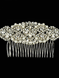 Luxurious Bride Hair Accessories 100% Handmade Pearl Wedding Hair Jewelry Party Pom Bridal Starry Hair Comb Pearl Tiara