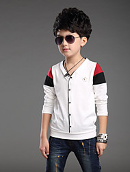 Boy's Fashion Cotton/Polyester/ Spring / Fall Long Sleeve Tee