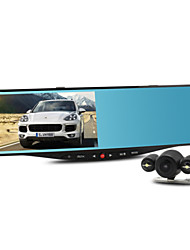 "NTK96655 Master 5.0"" 1080P Wide Angle Dual Lens Rearview Mirror Car DVR Recorder With Parking monitoring"