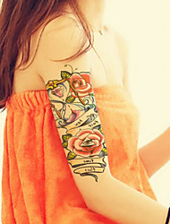 2015 Latest Version High Quality Creative Fashion Waterproof One-Time Tattoo Stickers ——Original Hourglass Flowers