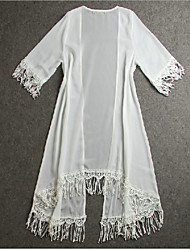Women's  Vintage Sexy Casual Beach Lace Cute Long Sleeve Blouse , Chiffon/Lace