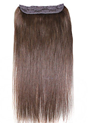 Ibeshion 100 grams Hair Piece 5 Clips Straight Clip In Human Hair Extensions #1 #1b #2 #4 #6 #8 Brazilian Hair