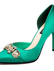 Stiletto - 7,5-9,5 cm - Damenschuhe - Pumps/Heels ( Samt , Schwarz/Grün/Grau/Rot )