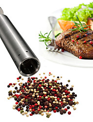 Thumb Push Salt Pepper Grinder Stainless Steel Mill Hand Press Grind Stick