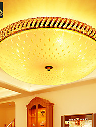 Modern LED Ceiling Lamp 35cm Round With Glass Cover For Bedroom Lighting (035-35)
