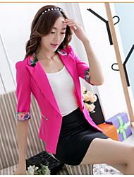 Women's ¾ Sleeve Cotton Blends Short Casual