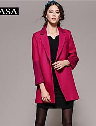 Women's Long Sleeve Wool Coat Party/Work