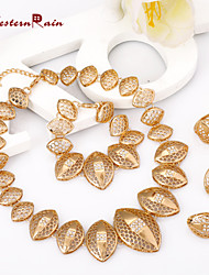WesternRain Gold Plated African Jewelry Sets 18k Original Classic Fashion Jewelry For Women bijouterie, Alloy jewelry