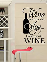 estilo decalques adesivos de parede parede novo vinho palavras inglesas&cita parede adesivos pvc