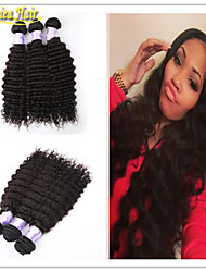 3pcs/Lot Brazilian Virgin Hair Extensions Natural Color Remy Virgin Hair Deep Wave Human Hair Weave hair Bundles