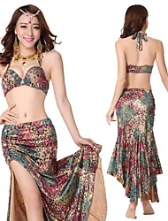 2015 New Belly Dance Costumes Leopard Designs Hot Selling Dancing Wears Dress WY9529