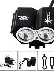 SolarStorm 5000 Lumen 2x CREE T6 LED Front Bicycle Light Bike Headlamp Headlight
