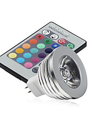 5pcs 2.5w mr16 rgb a conduit la lampe ampoule 16 couleur changeant + ir remote (ac / dc12v)