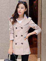 YOULANYASI®Women's Long Sleeve Cotton Trench Coat , Casual/Work