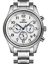 BINKADA Men's Fashion Digital Dial Steel Band Automatic Mechanical  wrist Watch(Assorted Colors)