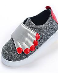 Baby Shoes - Casual - Sneakers alla moda - Tessuto - Nero / Argento