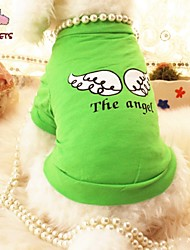 Cat / Dog Shirt / T-Shirt Green / Purple Summer Angel & Devil Wedding / Cosplay