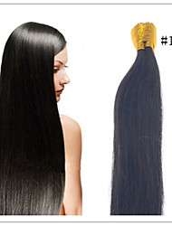 "Cheap Straight Indian I Tip Virgin Human Hair 18""-28""Keratin Prebonded Hair Extensions 1G/S 50G/PC 1Pc/Lot  In Stock"