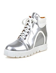 Women's Shoes  Flat Heel Fashion Boots/Round Toe Boots Office & Career/Dress White/Silver
