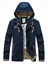 Men's Long Sleeve Jacket , Microfiber Casual/Work/Formal/Sport Pure