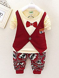 Boy's Cotton Blend Clothing Set , Spring/Fall Long Sleeve,Kid's Clothing,For 0-4 Years Old,Soft and Comfortable Suit