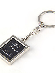 Beautiful Photo Frame Key Button / Black Square Card Key Pendant