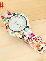 Mulheres Relógio de Moda Quartz Resina Banda Relógio de Pulso / pulseira Cores Múltiplas