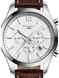 BINKADA Men's Fashion Waterproof Dial Leather Band Automatic Mechanical Wrist Watch(Assorted Colors)