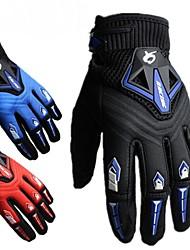 Motos luvas Dedo Total Náilon/Lycra/EVA M/L/XL Vermelho/Preto/Azul